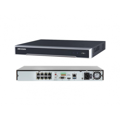 HikVision 8 Channel IP Network Video Recorder (NVR), 6TB Storage,4K,8 PoE Ports [DS-7608NI-I2/8P]