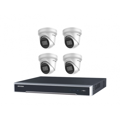 DIY Hikvision Home/Office 6MP Turret Kit [4 x 6MP Turrets (DS-2CD2365G1-I) + 1 x 8CH NVR (DS-7608NI-I2-8P) + 3TB HDD]