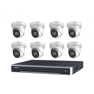 DIY Hikvision Home/Office 6MP Turret Kit [8 x 6MP Turrets (DS-2CD2365G1-I)  + 1 x 8CH NVR (DS-7608NI-I2-8P) + 3TB HDD]