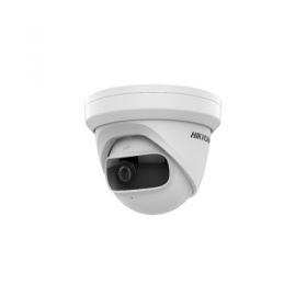 Hikvision 4MP 180 deg Indoor Wide Angle Turret Camera, H.265, IR, WDR [DS-2CD2345G0P-I]